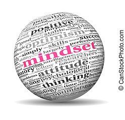 概念, タグ, 雲, mindset