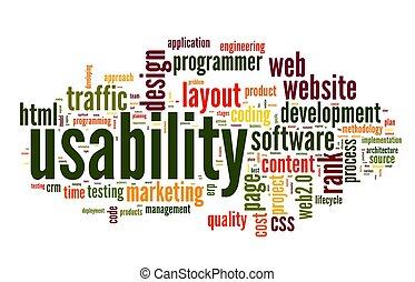 概念, タグ, 雲, usability