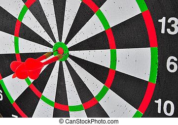 概念, ターゲット, ビジネス・センター, 矢, 3, さっと動く, 赤, ゴール