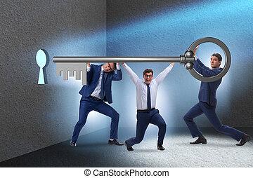 概念, チームワーク, ビジネスマン, チーム