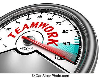 概念, チームワーク, メートル