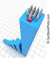 概念, チームワーク, 成功, リーダーシップ