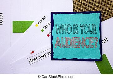 概念, テキスト, ねばねばしたペーパー, 執筆, あなたの, サービス, 研究, メモ, バックグラウンド。, 書かれた, 概念, ステータス, 地図, 提示, question., 意味, textured, 顧客, ターゲット, 熱, 聴衆, クライアント