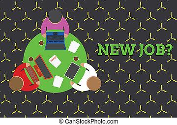 概念, テキスト, テーブル, 電子, ファインド, から, 文書, 仕事, 新しい, もし, ミーティング, コーヒー, 誰か, cup., question., 仕事, 彼ら, 形式的, マレ, 従業員, 意味, 装置, 尋ねられた, 手書き, suitable, ラウンド