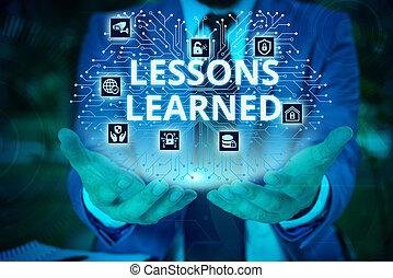 概念, テキスト, 人間, レッスン, 知識, 執筆, device., スーツ, プレゼンテーション, 痛みなさい, ビジネス, 理解, learned., ウエア, 使うこと, 形式的, gained, 単語, 労働経験, 提出すること, マレ, ∥あるいは∥