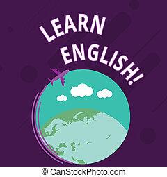 概念, テキスト, 地球, ブランク, 飛行機, 知識, 飛行, 執筆, ビジネス, 新しい, のまわり, カラフルである, 得なさい, space., 引っ越し, 利益, アイコン, 単語, 言語, 勉強しなさい, english., 学びなさい