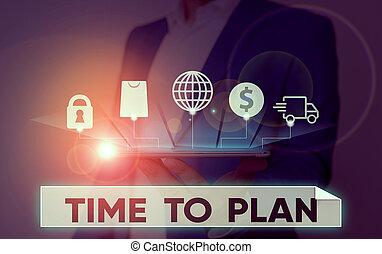 概念, テキスト, 準備, 意味, 考えなさい, 準備をすること, 時間, solutions., 手書き, もの, 他, plan.