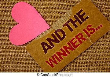 概念, テキスト, 競争, テキスト, ペーパー, 厚く, ピンク, heart., 勝者, 執筆, 赤, ビジネス, 色素, 袋, ジュート, 引き裂かれた, 単語, 発表, レース, 場所, 最初に, ∥あるいは∥, 血