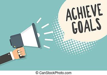 概念, テキスト, 結果, 計画, 拡声器, oriented, halftone., スピーチ, 保有物, メガホン, 泡, 目的を達しなさい, 青, リーチ, 意味, 成功しなさい, 背景, goals., 人, ターゲット, 効果的である, 手書き
