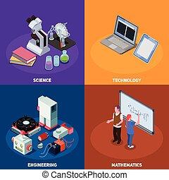 概念, デザイン, 茎, 教育