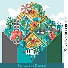 概念, デザイン, 風景