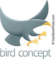 概念, デザイン, 鳥