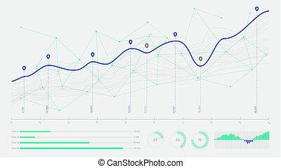 概念, デジタル, 概念, analytics, ビジネス, hi-tech, データ, グラフィック, 革新, 視覚化, 糸