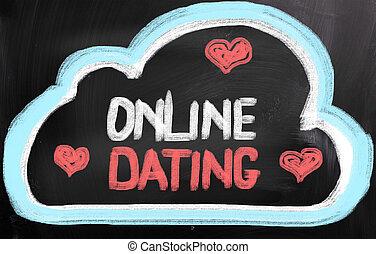 概念, デートする, オンラインで