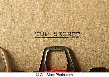 概念, トップの秘密