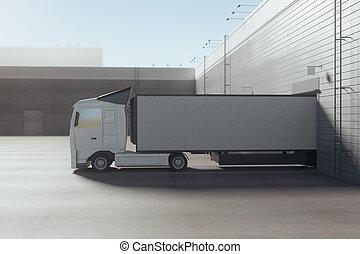 概念, トラック, 出荷