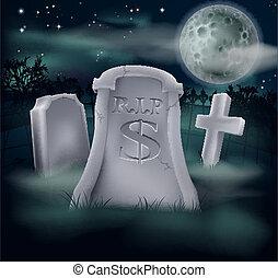 概念, ドル, 墓