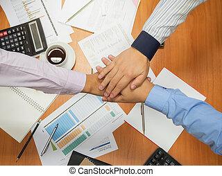 概念, ビジネスオフィス, 仕事, 男性, 若い, バックグラウンド。, 手が震える