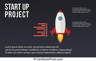 概念, ビジネス, の上, 要素, 始めなさい, infographic