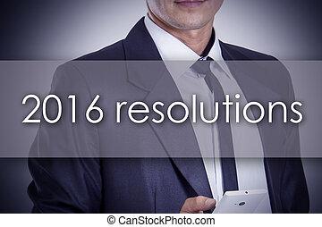 概念, ビジネス, テキスト, -, 若い, ビジネスマン, resolutions, 2016