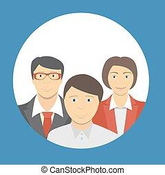 概念, ビジネス 人, 助力, 個人, 学生