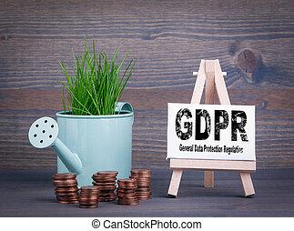 概念, ビジネス, 将官, 保護, 規則, データ, gdpr