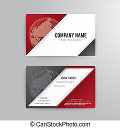 概念, ビジネス, 抽象的, 現代, テンプレート, カード, design.