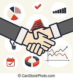概念, ビジネス, 握手