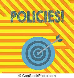 概念, ビジネス, 政府, 規則, テキスト, 会社, 執筆, 規則, 意味, policies., standards., 手書き, ∥あるいは∥