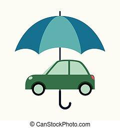 概念, ビジネス 概念, 自動車, 保護, イラスト, ベクトル