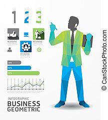 概念, ビジネス, 色, イラスト, infographic, デザイン, vector., 幾何学的