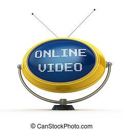 概念, ビデオ, オンラインで