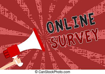 概念, フィードバック, テキスト, messages., 満足, レート, reappraisal, poll, 拡声器, 光線, 執筆, 保有物, オンラインで, メガホン, レッドグランジ, ビジネス, 重要, 人, 単語, 証明, survey.