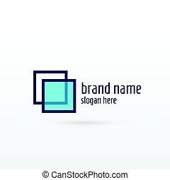 概念, ブランド, デザイン, きれいにしなさい, ロゴ, sqaure, あなたの