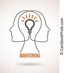 概念, ブレーンストーミング, 考え, ビジネス, infographics