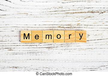 概念, ブロック, 木製である, 作られた, 記憶, 単語