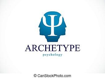 概念, プロフィール, 影, problems., 人, 原型, 頭, ベクトル, 精神, アイコン, ロゴ, 健康, ∥あるいは∥, 作成される, 心理学, 精神分析, psychical, ダブル, 個性, design.