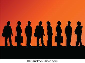 概念, ヘルメット, 産業, ポスター, ベクトル, 建設, 安全, イラスト, 背景, エンジニア