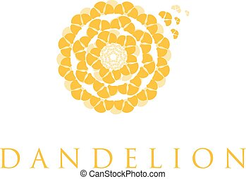 概念, ベクトル, イラスト, dandelion.