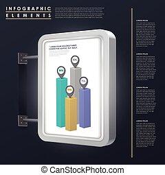 概念, マーケティング, infographic, デザイン, テンプレート