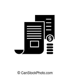 概念, メモ, 隔離された, イラスト, 印, バックグラウンド。, ベクトル, 黒, アイコン, シンボル, 投資家