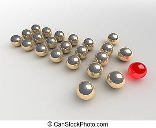 概念, リーダー, ボール
