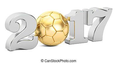 概念, レンダリング, 2017, サッカー, 3d