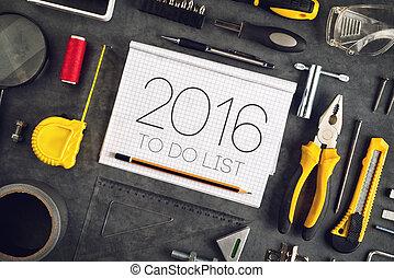 概念, ワークショップ, 2016, 職人, 年, 新しい, resolutions