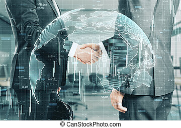 概念, 世界的である, 協力, 取引しなさい