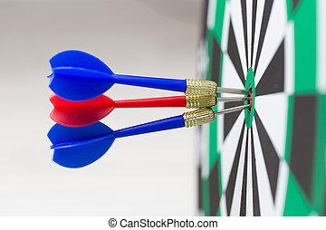 概念, 中心, 協力, 矢, ヒッティング, 板, ターゲット