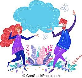 概念, 人々, コミュニケーション, ∥間に∥, 連絡, 対話