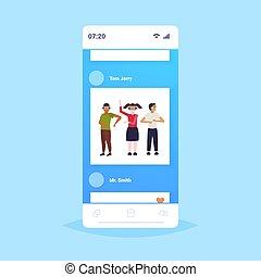 概念, 人々, app, 現代, vr, フルである, によって, 技術, ヘッドホン, バーチャルリアリティ, デジタル, 3d, 身に着けていること, smartphone, スクリーン, オンラインで, 友人, モビール, 経験, 長さ, ビジョン, ガラス