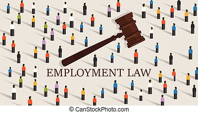 概念, 人々, cowd., 立法, 法的, 労働, education., 小槌, 法律, 雇用