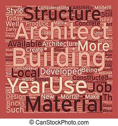 概念, 仕事, テキスト, 建築家, wordcloud, 建築, 背景